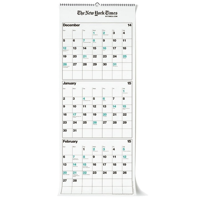 Founder, Nicely Noted - New York Times Three-Month Wall Calendar