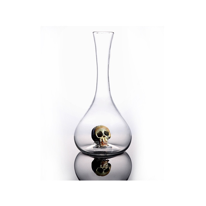 Founder and CEO of AHA - Esque Studio Skull in a Bottle Wine Decanter