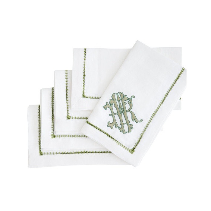 Author and Lifestyle Expert - Monogrammed Linens from Halo Home by KSW