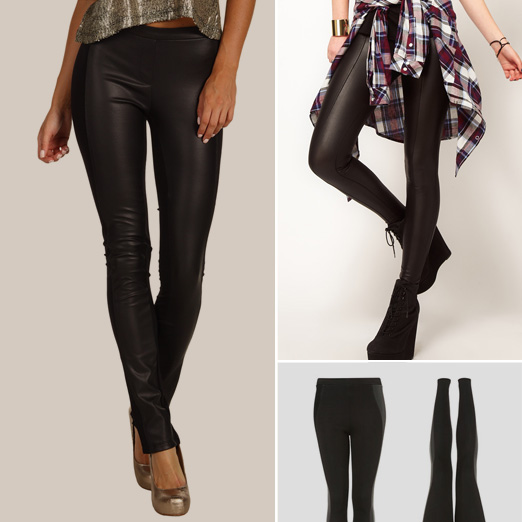 Leather Faux Leggings