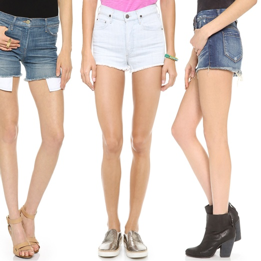 Rank & Style - Best High Waisted Denim Shorts