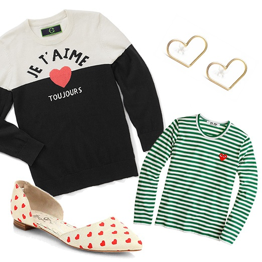 Rank & Style - Best Heart Printed Fashion Bests