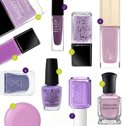 Rank & Style - Best Lilac Nail Polishes