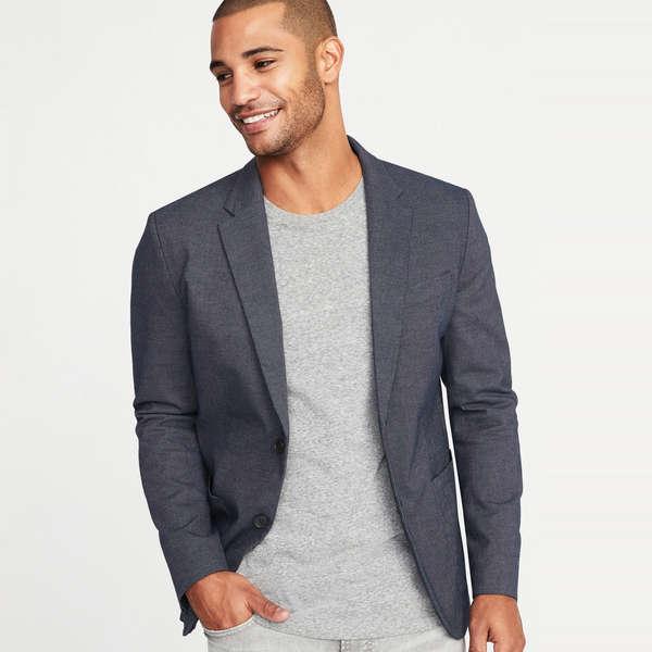 Mstyle Men Print Business Regular Fit Casual Two Button Suit Blazer Coat Jacket