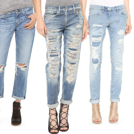 Rank & Style - Best Ripped Boyfriend Jeans
