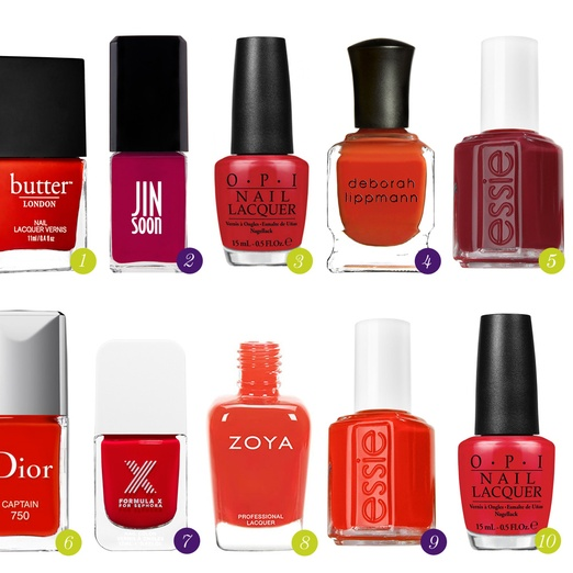 Rank & Style - Best Summer Red Nail Polishes