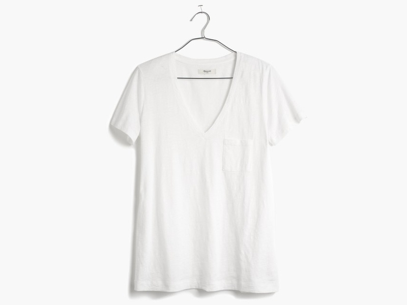 10 Best V-Neck White Tees