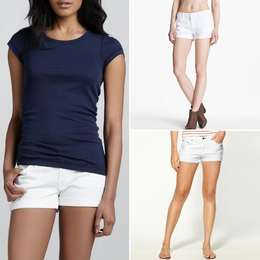 Rank & Style - Best White Denim Shorts