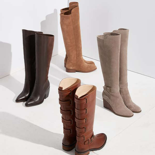 RedBrowm Tall Boots Winter Boots Over The Knee High Heel Boots High Strap Zip Heel Boots