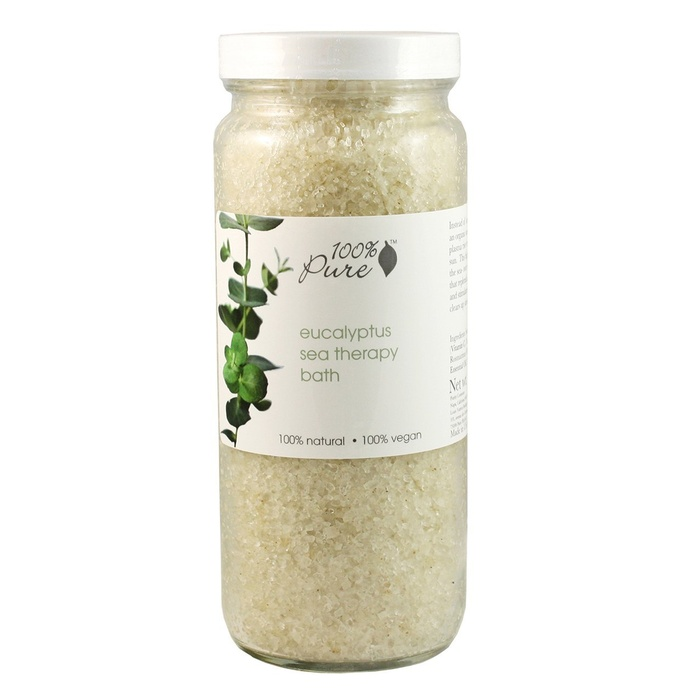Best Bath Soaking Salts - 100% Pure Organic Eucalyptus Sea Therapy Bath