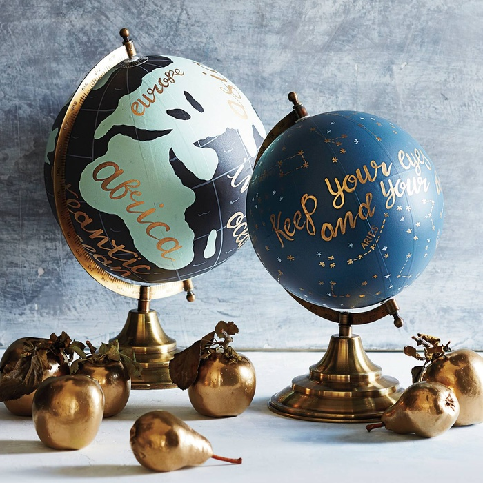 Best For the Frequent Flyer - 1canoe2 Handpainted Wanderlust Globe