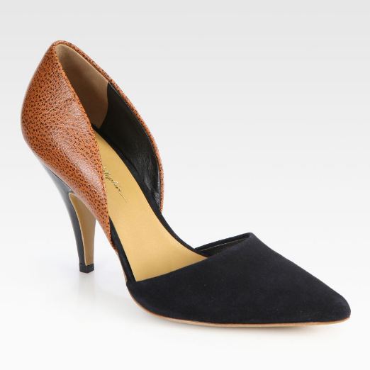 Best d'Orsay Pumps - 3.1 Phillip Lim Diamond Speckled Leather & Suede d'Orsay Pumps