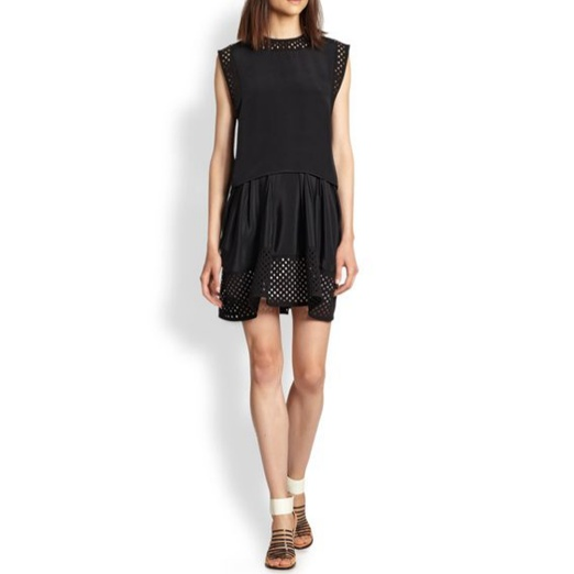 Best Spring LBDs - 3.1 Phillip Lim Perforated Paneled Layered Waist Dress