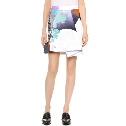 Best Lilac Bests - 3.1 Phillip Lim Soleil-Print Fold-Pleat Skirt