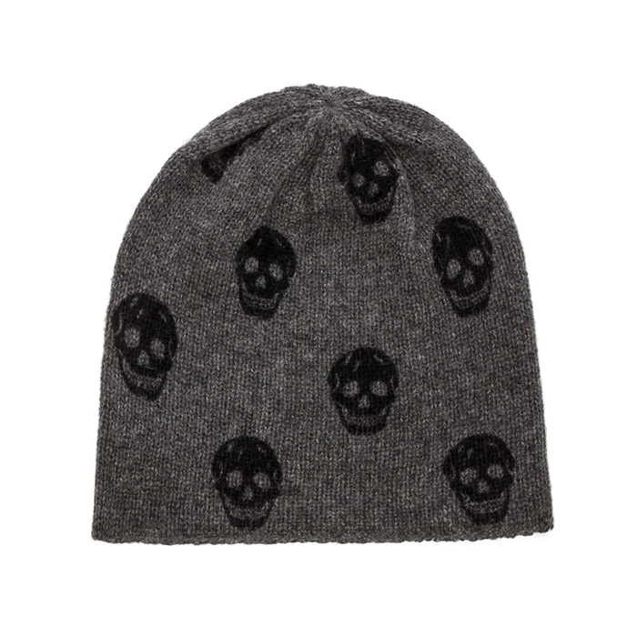 Best Knit Beanies - 360 Sweater Luther Cashmere Skull-Print Beanie