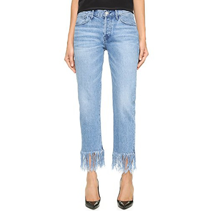 Best Spring Denim Trend 2017 - 3x1 WM3 Straight Crop Fringe Jeans