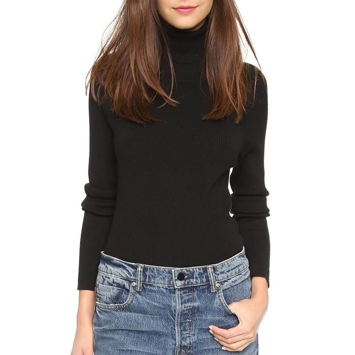 525 America Ribbed Turtleneck Sweater | Rank & Style