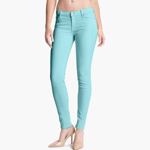 Best Bright Denim - 7 For All Mankind® 'Slim Illusion' Skinny Stretch Jeans