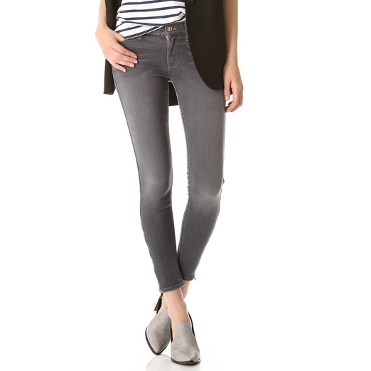 7 For All Mankind The Skinny Cropped Ankle-Zip Jeans | Rank &amp Style