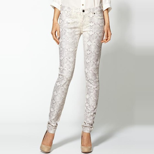 Best Printed Denim - 7 For All Mankind The Skinny Jeans