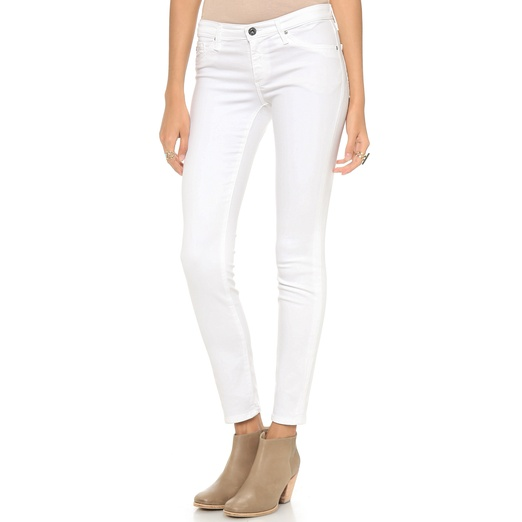 Best White Skinny Jeans - AG Adriano Goldschmied The Legging Ankle in White