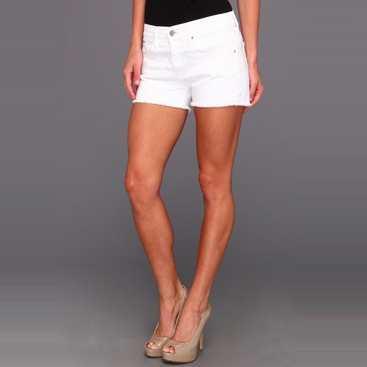 Best White Denim Shorts - AG Adriano Goldschmied The Pixie Cut Off Short