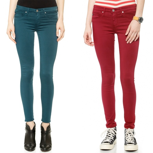 Best Jewel-Toned Denim - AG Adriano Goldschmied The Super Skinny Legging Ankle Jeans