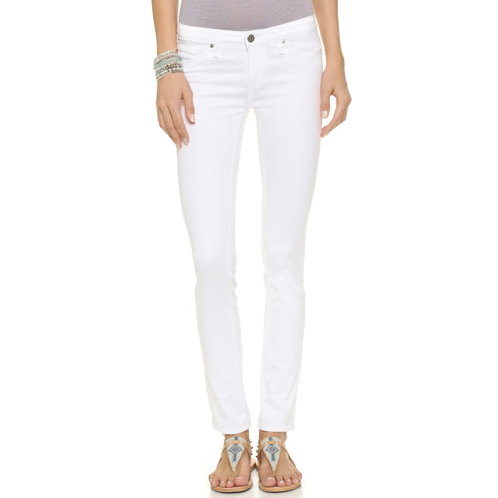 Best Your Guide To This Summer's Best White Jeans - AG The Stilt Cigarette Jeans in White