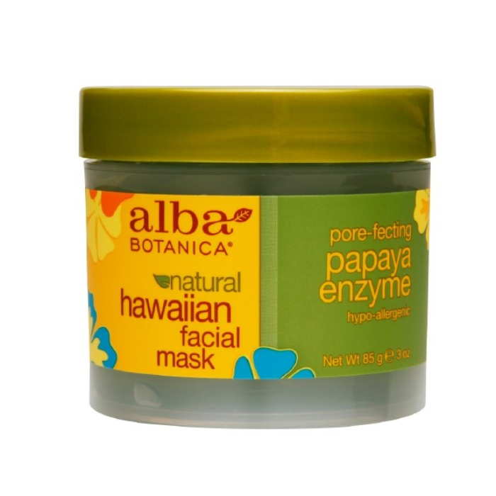 Best Natural Face Masks - Alba Botanica Hawaiian Facial Mask, Pore-fecting Papaya Enzyme