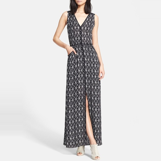 Best Date Night Dresses - A.L.C. Jesse Printed Slit Maxi Dress