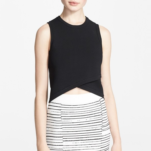 Best Midsummer Crop Tops - A.L.C. Nat Crossover Stretch Knit Cropped Top