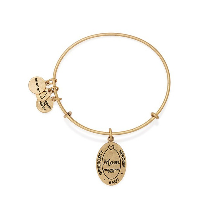 Best Mother's Day Gifts 2017 - Alex and Ani I Love You Mom Expandable Wire Bangle