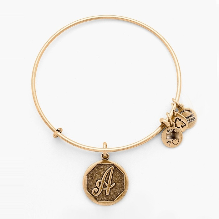 Best Personalized Gifts - Alex and Ani Initial Adjustable Wire Bangle