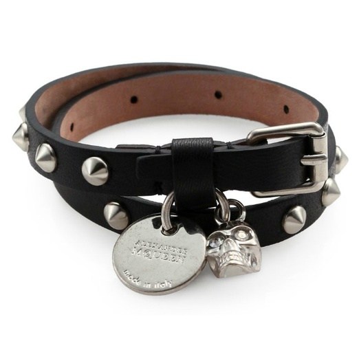 Best The Ten Best Moto-Inspired Gifts - Alexander McQueen Studded Double Wrap Bracelet