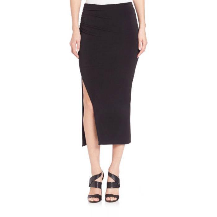 Best Midi Skirts Under $200 - Alice + Olivia Ann Asymmetrical Slit Midi Skirt