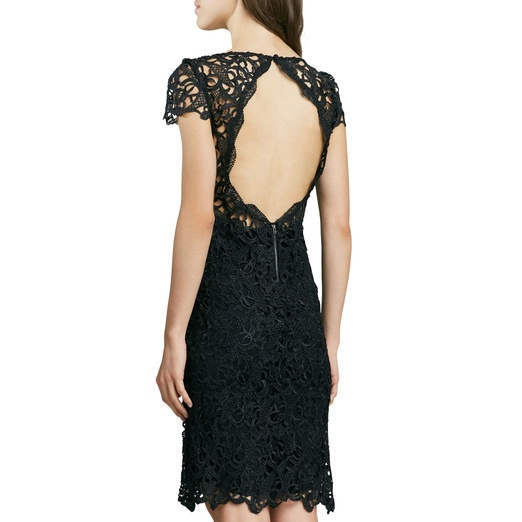 Best Spring LBDs - Alice + Olivia Clover Lace Open-Back Dress