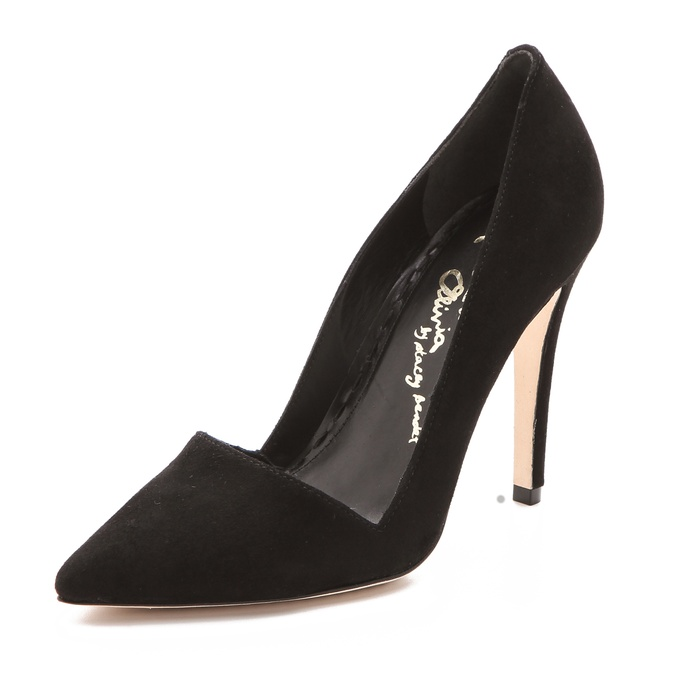Best Black Suede Winter Pumps - Alice + Olivia Dina Suede Pumps