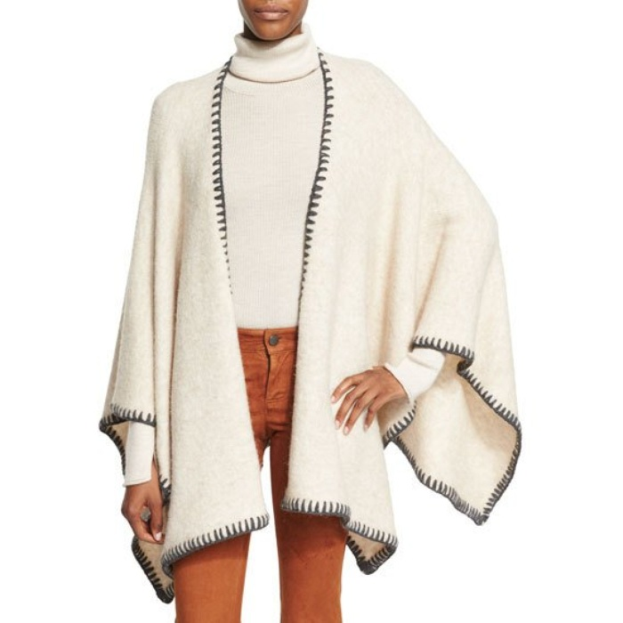 Best Fall Accessories - Alice + Olivia Kamala Solid Oversized Poncho