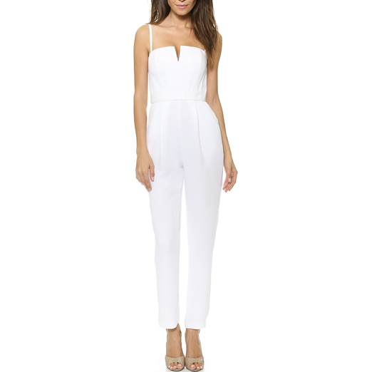 Best Summer White Bests - Alice + Olivia Tank Pleated Jumpsuit