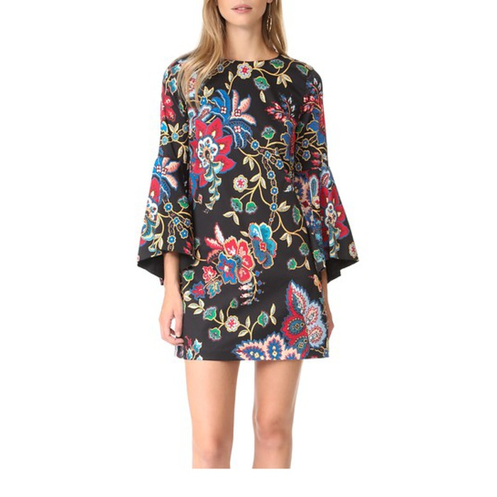 Best Transitional Dresses - Alice + Olivia Thym Trumpet Sleeve Tunic Dress