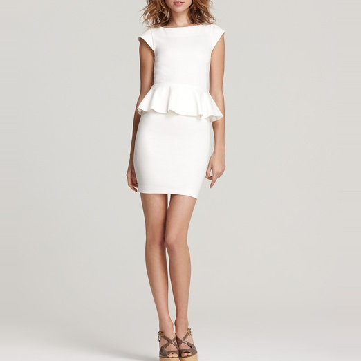 Best Peplum Dresses - Alice + Olivia Victoria Short Sleeve Peplum Dress