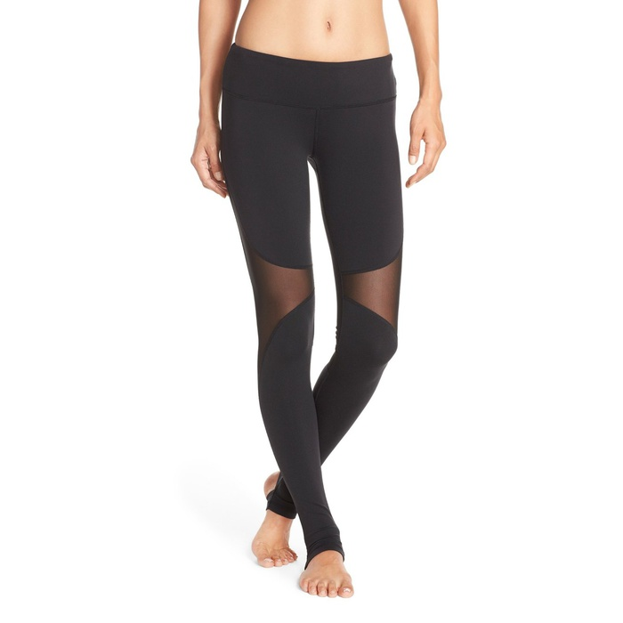 Best Yoga Leggings - Alo Yoga Coast Mesh Inset Stirrup Leggings