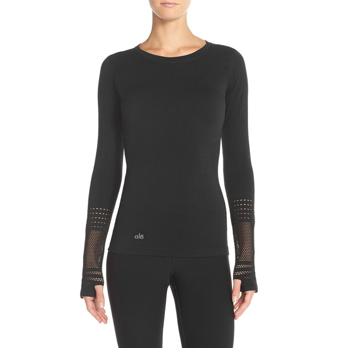 Best Cold Weather Workout Tops - Alo Yoga North Star Long Sleeve Top