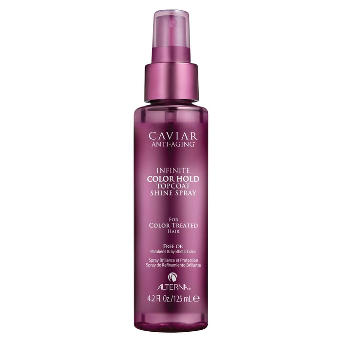 Best Hair Shine Sprays - Alterna Haircare Caviar Infinite Color Hold Topcoat Shine Spray