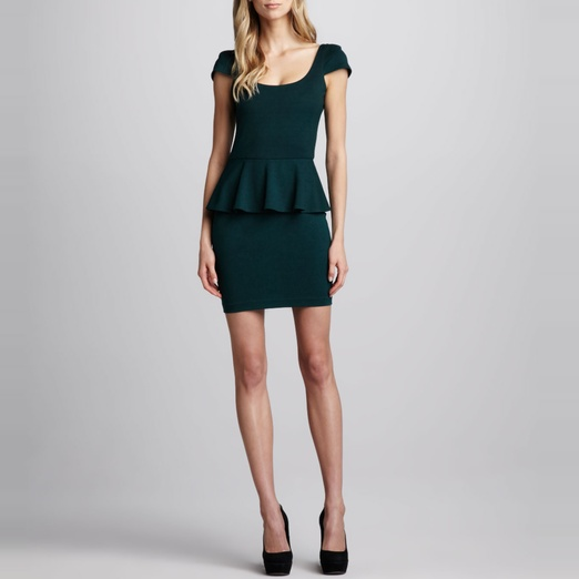 Best Peplum Dresses - Amanda Uprichard Ponte Peplum Dress