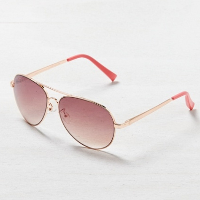 Best Sunglasses Under $25 - American Eagle Rose Gold Aviator Sunglasses
