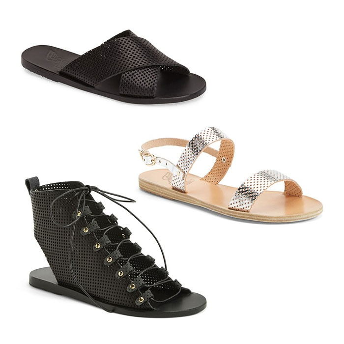 Best Perforated & Laser Cut Bests - Ancient Greek Sandals Perforated Leather Sandals