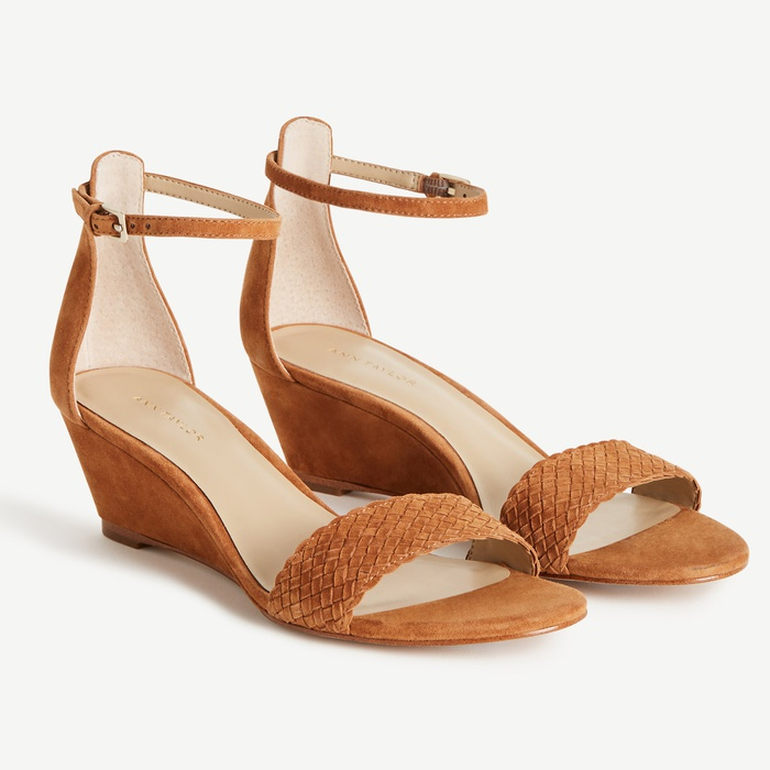 Best Heeled Sandals - Ann Taylor Gennifer Suede Kitten Wedges