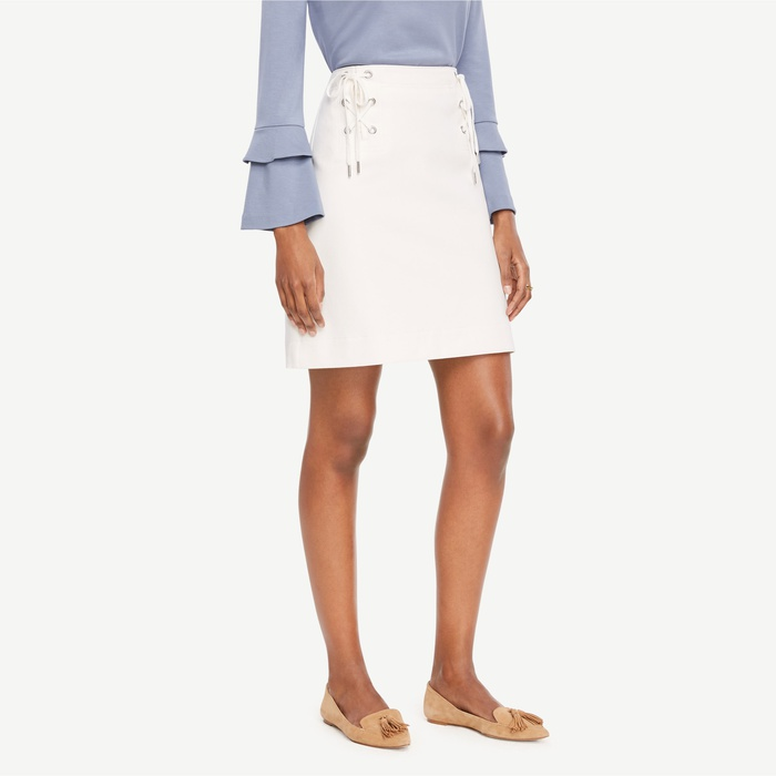 Best Flirty Skirts - Ann Taylor Lace Up Skirt