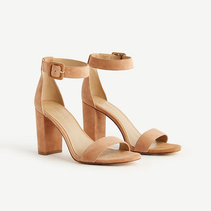 Best Must-Haves for a Timeless Wardrobe - Ann Taylor Leda Suede Block Heel Sandals